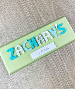 green bedroom name sign