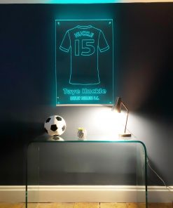 personalised led football shirt