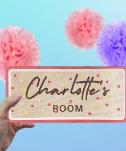 childrens wooden name sign